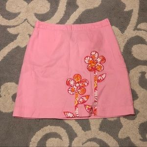 Lilly Pulitzer Pink Floral Mini Skirt